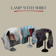 Leo Sims - Lamp With Shirt for The Sims 4