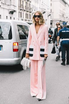 How to style a pink suit - TorontoShay