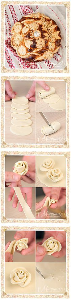 How beautiful to decorate the bread or other baked goods.