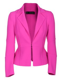 Dsquared Ruched Pink Ruched Virgin Wool Blazer