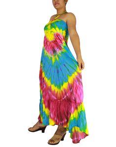 Siam2u Hippie Boho Tie Dye Cotton Long Halter Back Smock Maxi Dress. Maxi, Dress, plus size dress, Women's dress,sexy dress, summer dress, beachwear. long dressm hippie dress, gypsy dress, Kimono dress, Kimono, sundress,sexy dress. casual dress,Maxi, hippie dress, tie dye, tie dye dress, bohemian,clothing, Women's Clothing. Women's dress, maternity, colorful dress, multi-color dress,sexy dress, sleeveless dress.