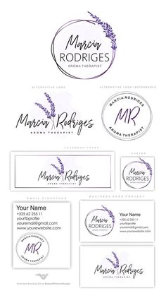Lavender Branding Kit, Photography Logo Set, Watermark, Lavender logo, Florist logo, Therapist Logo, lavender flower logo, Stamp Logo AFTER PURCHASING PLEASE PROVIDE THE FOLLOWING : 1. Your Name/Store name/Business Name ( the name that you would like I use for your logo) 3. Your initials 4. The world underneath the name (photography, boutique, life coaching etc.) 5. (For the extended sets only): Details for your business card project, email signature and etc. - your phone, email, ...