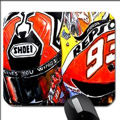 awesome Marc Marquez MOTO GP Repsol Honda CUSTOM PHOTO MOUSE PAD