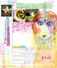 musings and creative inspiration from mixed media artist Traci Bautista, author of Collage Unleashed and Doodles Unleashed. Art Journal Pages, Art Journals, Digital Journal, Digital Art, Ipad Art, Creative Journal, Handmade Journals, Mixed Media Artists, Mark Making