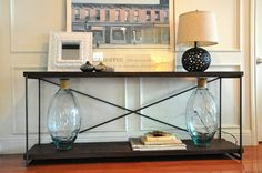 Extra Long Black Console Table