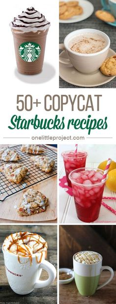These Starbucks recipes taste just like the real thing, except they are MUCH easier on the wallet!