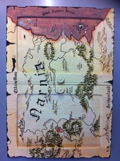 Woohoo. First set of doors done of next grandkids bedroom project .  Narnia map, painted with a little artistic licence, after making a big mistake.  Artwork by Leonie Hoekstra.