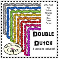 Double Dutch Frames $ http://www.teacherspayteachers.com/Product/Clip-Art-Double-Dutch-Frames-1421882