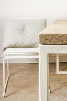 Esstische - Uferholztisch mit Untergestell aus Stahl - ein Designerstück von purewooddesign bei DaWanda
