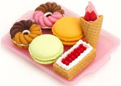 Iwako erasers 6 pieces rubber set dessert cake doughnut 4