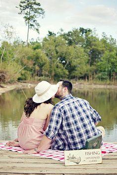 fishing engagement photos -