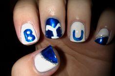 BYU nail art