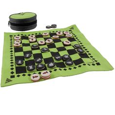 Pack some micro-light fun on your next adventure. Our easy-to-store TerraFun™ game set features chess, checkers, and backgammon in one convenient package. A durable and fast-drying game board has a chess/checker board on one side and backgammon on the oth