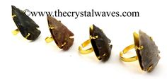 Fancy Jasper  Arrowhead Adjustable Rings