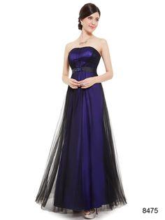 濃いめのブルーが鮮やかなパーティーロングドレス - ロングドレス・パーティードレスはGN 演奏会や結婚式に大活躍!