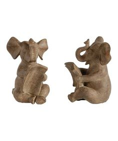 Elephant Bookend - Set of Two