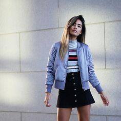 Guita Moda: 12 Looks que vão fazer você querer uma bomber jacket de cetim agora