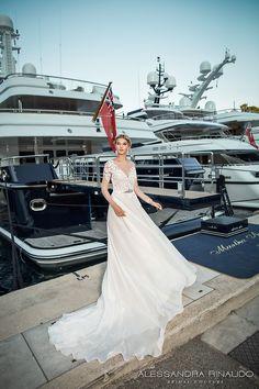 alessandra rinaudo 2017 bridal illusion long sleeves illusion boat neck v neck heavily embellished bodice sheer back long train (bliss) mv