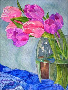 Tulips, 19 x 25 cm - Krzysztof Kowalski