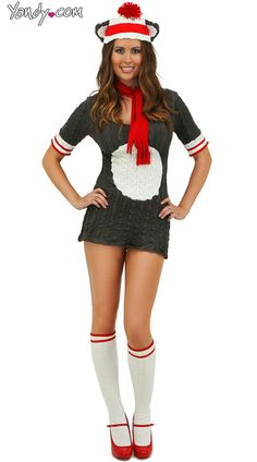 Sock Monkey Costume - I think I found my costume! TOO CUTE!