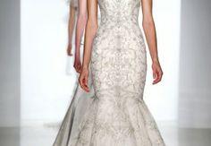 Kenneth Pool Modern Straps Mermaid Wedding Dress