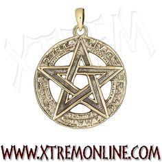 Colgante Pentagrama realizado en bronce XT3785. Colgantes góticos, paganos, esotéricos y mitológicos en nuestra tienda online. Visitanos!