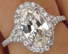 GIA 3.27ct Estate Vintage Asscher Cut Diamond by DiamondViolet