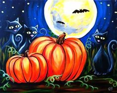 #924 - Halloween - Uptown Art Uncorked - Franklin, TN