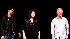 Hamish Linklater, Theresa Rebeck and Alan Rickman