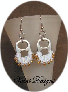 Boucles d'oreilles Chic faite en Macramé par ValniDesignsJewelry