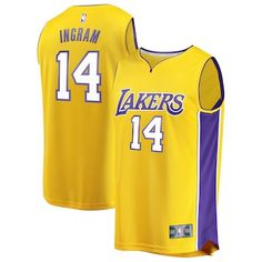 cd858b918 Brandon Ingram Los Angeles Lakers Fanatics Branded Fast Break Replica  Jersey Gold - Icon Edition Gary