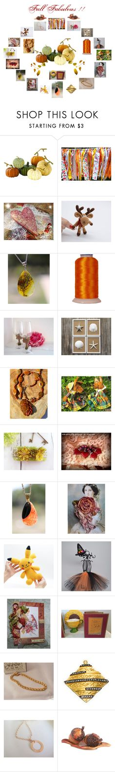 """""""Fall Fabulous"""" by zebacreations ❤ liked on Polyvore featuring Home Decorators Collection and Fitz & Floyd"""