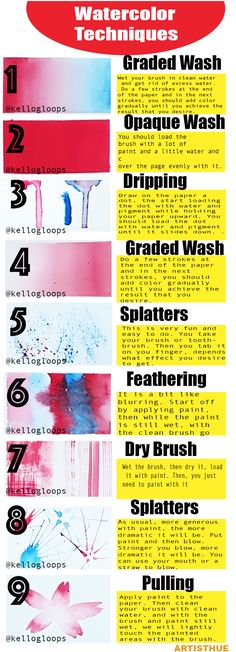 watercolor | watercolor techniques | watrecolor for beginners | learn to draw | how to draw | #artisthue #watercolor #art