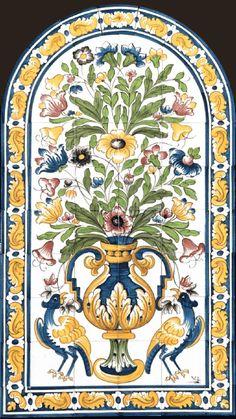 Islamic Motifs, Islamic Art Pattern, Pattern Art, Tile Murals, Tile Art, Botany Illustration, Art Case, Portuguese Tiles, Indian Paintings