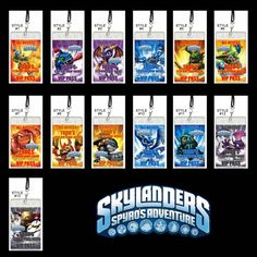 Skylanders Set of 12 VIP Party Invitation Passes or Party FavorsFrom I