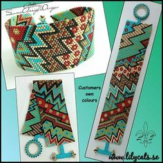 Crazy Zig Zag 8 - Even Count Peyote Beading Bracelet Pattern Peyote Beading Patterns, Peyote Stitch Patterns, Beaded Bracelet Patterns, Bead Loom Patterns, Loom Beading, Bead Loom Bracelets, Bead Jewellery, Bijoux Diy, Bead Jewelry