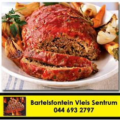 Home made delicious meatloaf - a winner in every household. For top quality mince meat, Head down to Bartelsfontein Vleis Sentrum today. #butchery #meatloaf