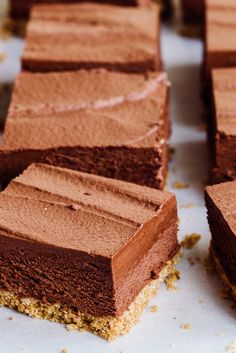 No-Bake Chocolate Mousse Bars Recipe - NYT Cooking