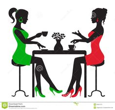 black woman tea for two art images | Drinking Coffee Clipart Ladies drinking coffee clipart - clipart kid
