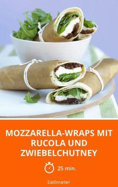 Mozzarella-Wraps mit Rucola und Zwiebelchutney - smarter - Zeit: 25 Min.   eatsmarter.de