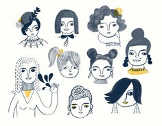 Adventurous Women by Sarah Walsh. via Etsy.