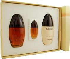 Obsession by Calvin Klein for Women, Set (Eau De Parfum Spray 3.4 Ounce, Body Lotion 6.7 Ounce, Obsession Mini Eau De Parfum Spray 0.5 Ounce) by Calvin Klein. $94.50. This item is not for sale in Catalina Island. Packaging for this product may vary from that shown in the image above. Launched by the design house of Calvin Klein in 1985, OBSESSION is a women's fragrance that possesses a blend of citrus, vanilla and greens lowering to notes of sandalwood, spices ...