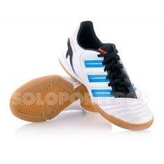 outlet store a51af b5c31 Zapatilla Adidas Jr Predator Absolado IN Blanca-Azul  29.95 (-43%)