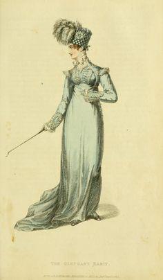 Ackermann's Repository Vol 4 - September Issue Regency Dress, Regency Era, Jane Austen, Riding Habit, Vintage Outfits, Vintage Fashion, Fashion Forecasting, Empire Style, Fashion Plates