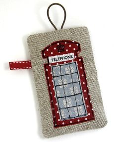 iPhone cover Red British Telephone Box, via Etsy.