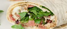 Egg White and Turkey Bacon Wrap with Herbs and Arugula (collards or brown rice tortilla for the wrap)
