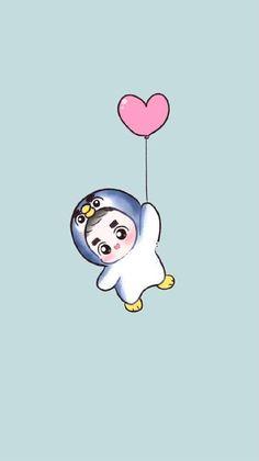 Wooow 😂 That little Kyungsoo is so cuteee 😂❤ Kyungsoo, Kpop Exo, Kpop Anime, Anime Guys, Chibi, Exo Cartoon, Character Concept, Character Design, Exo Lockscreen