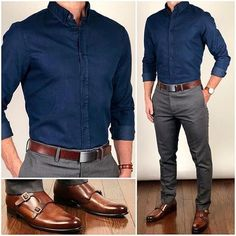 46 Stylish Formal Men Work Outfit Ideas To Change Your Style - Männer Mode - Outfits Formal Men Outfit, Men Formal, Semi Formal Outfits, Mens Formal Shirts, Casual Outfit For Men, Work Outfit Men, Mens Semi Formal Wear, Black Shirt Outfit Men, Mens Work Shirts