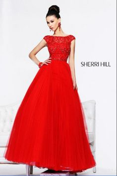 Newest 2013 Fashion Short Sleeves Beaded Open Back Modest Prom Dress $189.00