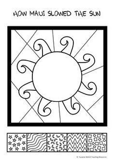 Māori Myths and Legends – How Māui Slowed the Sun Mayan Symbols, Viking Symbols, Egyptian Symbols, Viking Runes, Ancient Symbols, Sun Activity, Activity Sheets, Legends For Kids, Maori Legends